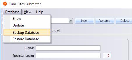 Backup/Restore Database
