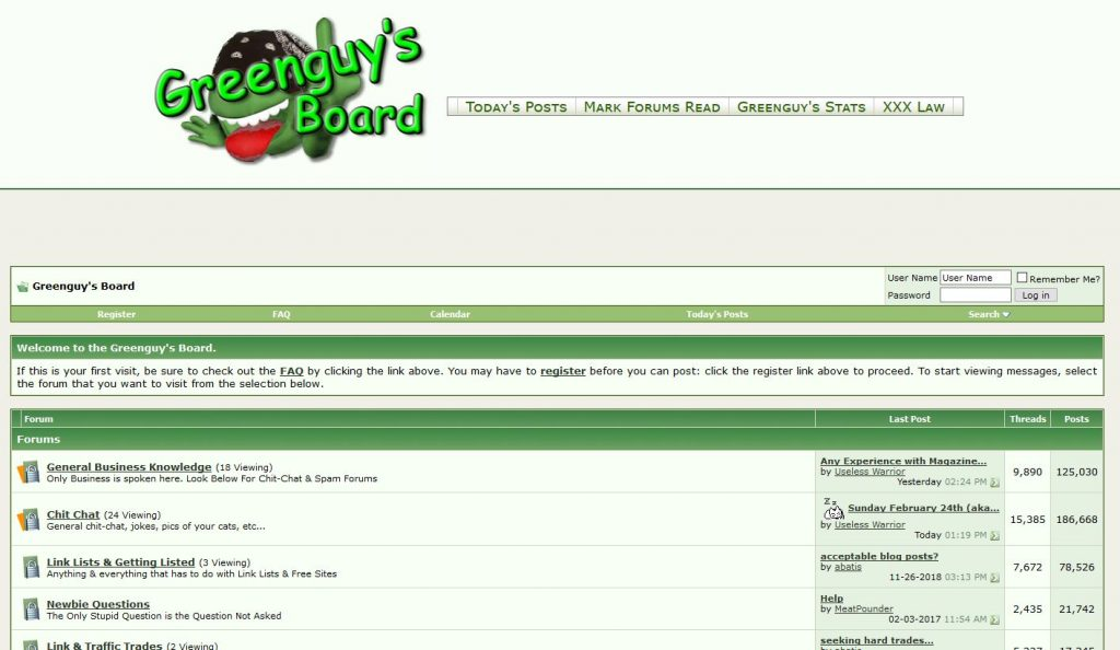 GreenGuys Board